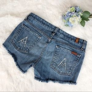 7 For All Mankind 'A' Pocket Shorts Sz 29 Cutoffs